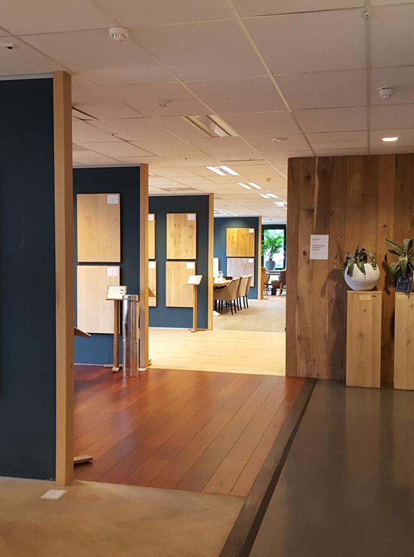 Showroom houten vloeren Fairwood