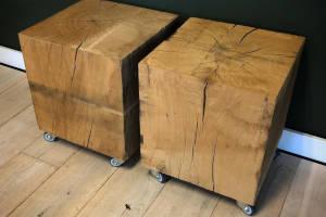 houten eiken blok massief