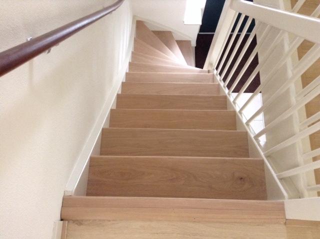 Eiken trap bekleden
