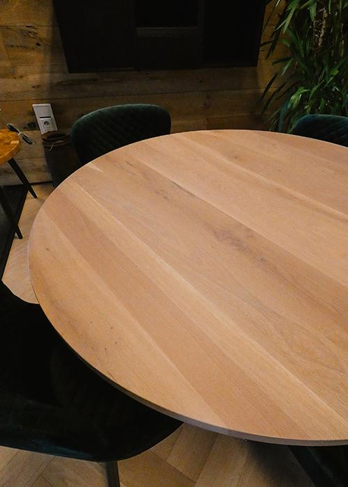 Rond eiken tafel Stamford