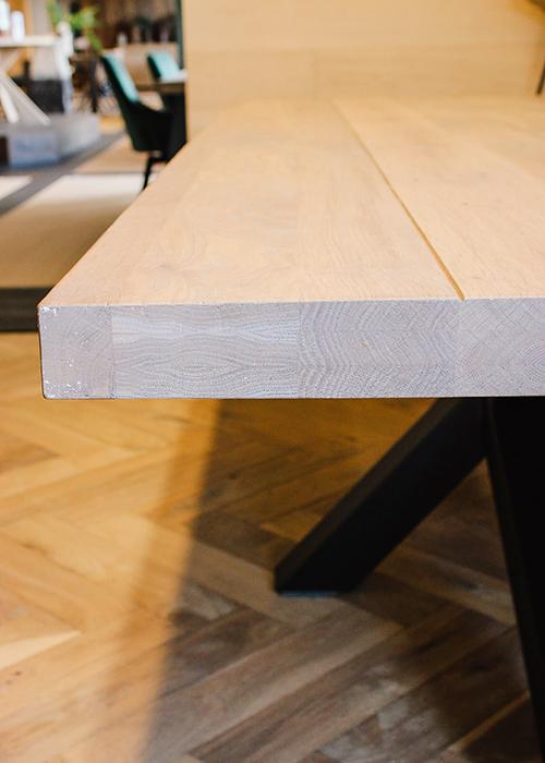 Massief eiken houten tafelblad